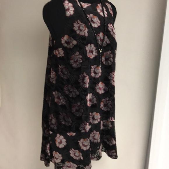 ee7009a35c34 LOFT Dresses | Iced Floral Velvet Swing Dress Nwt | Poshmark